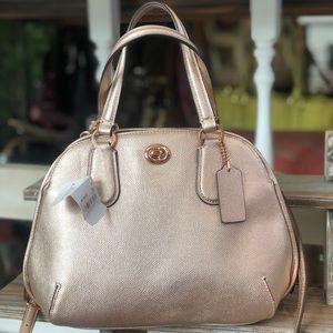 BRAND NEW Rose gold Authentic COACH handbag